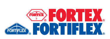 Fortex Fortiflex Red and Blue Logo Image