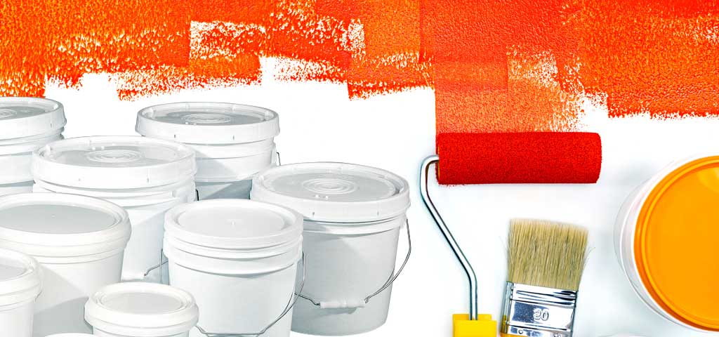 Page Banner for Industrial Products featuring Paint roller